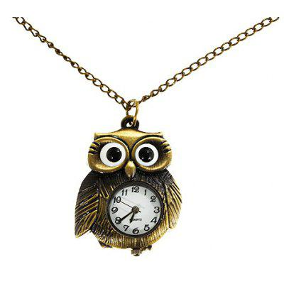 Owl Shaped Quartz Pocket Watch