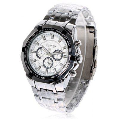 Buy Curren Watch with Three Small Decorating Hands Round Dial and Steel Band for $13.48 in GearBest store