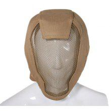 Air Harden Face Guard Mesh Full Face Protective Tactical Mask-Mud