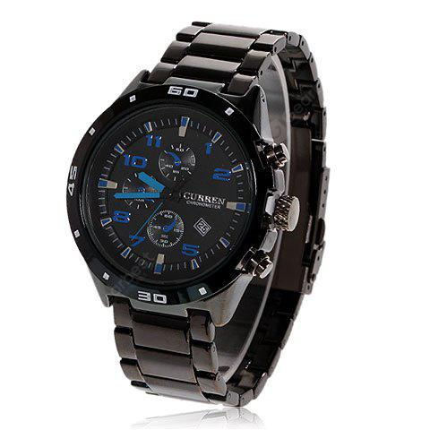 Curren Calendar Display Quartz Steel Reloj de hombre