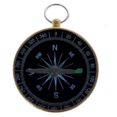Solid and Durable Gold Prismatic Compass for Outdoor Activities