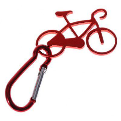 Contracted Bicycle Model Buckle Carabiner Clip Pendant Keychain for Outdoor Hiking Mountaineering etc.