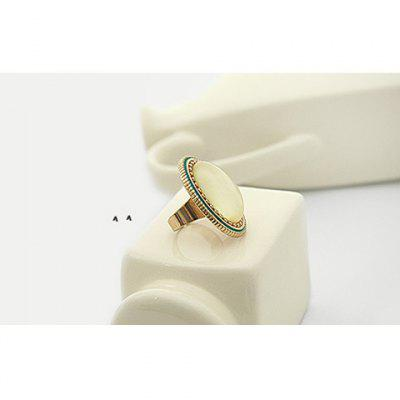 Retro Style Ellipse Pattern Design Rings For Female