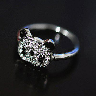 Little Panda Rhinestone Embellished Ring