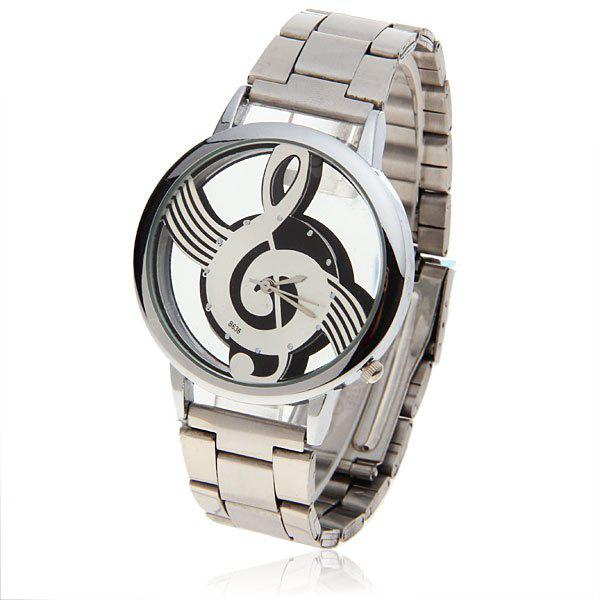 Bolun Note Shaped Dial Dial Stainless Steel Men Watch