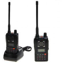 TK-718 VHF 136-174MHz 5W Walkie Talkie with 199 Channel and FM - Black
