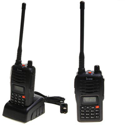IC-V85 VHF 136 - 173.995MHZ 5W Walkie Talkie with CTCSS/ DCS/ Programming/ Alert Function - Black