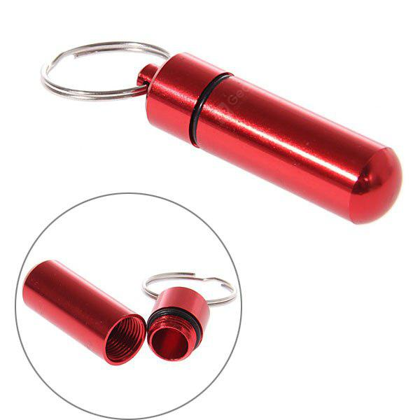 M Size Round Bottom Waterproof Air Tight Medicine Container Pill Barrel Holder with Keychain