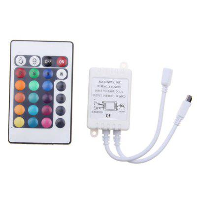 6A 12V Infrared Radiation Receiver LED RGB Controll Box with Remote Controller