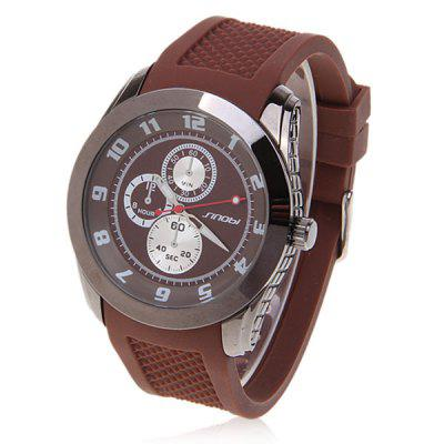 Sinobi Unisex Quartz Round Dial Rubber Band Wrist Watch