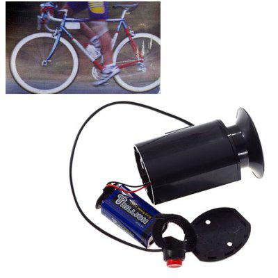 Durable Plastic Material Waterproof Electric Horn with Mount for Bicycle (Black)