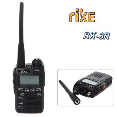 RK-3R Rike Mini Two Way Radio Walkie Talkie with Vox FM Radio-Black