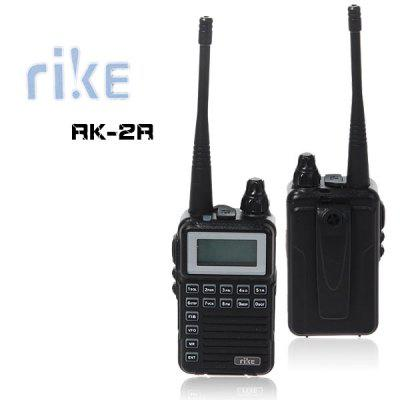 RK-2R Rike Mini Two Way Radio Walkie Talkie with Vox FM Radio-Black