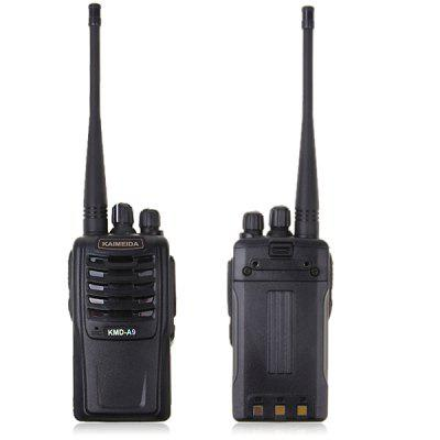 KMD-A9 5W 16 Channels VHF Walkie Talkie with VOX CTCSS DCS Scrambler Function - Black