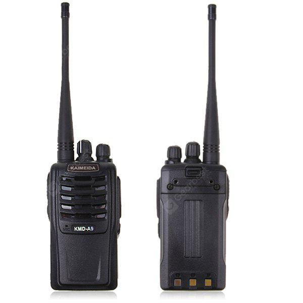 KMD-A9 5W 16 Channels VHF Walkie Talkie VOX CTCSS DCS Scrambler Function - Black