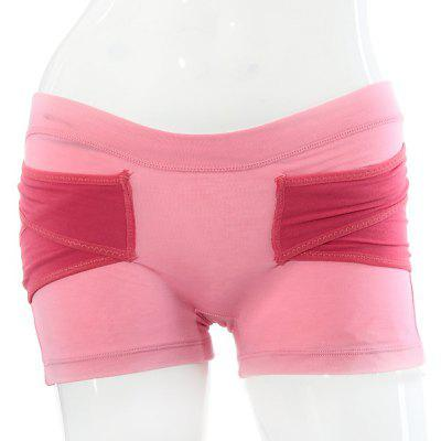 Comfortable Soft Lady's Short Hip Shaping Pants - Pink