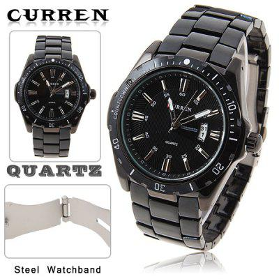 Buy BLACK DIAL Curren Brand Men's Wrist Watch with Calendar Function Dial Steel Band for $15.93 in GearBest store