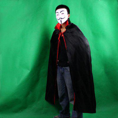 Masquerade/Halloween Supplies/Party Bar Show Props Red Black Cloak + V Word Mask