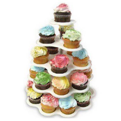 New Party Cupcake Stand 5 Tier Tree Holders Muffin Serving Birthday Cake with 27 Cups