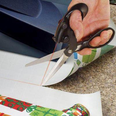 Red Laser Straight Line Cut Guided Fabric Scissors  -  Lower Than 5MW