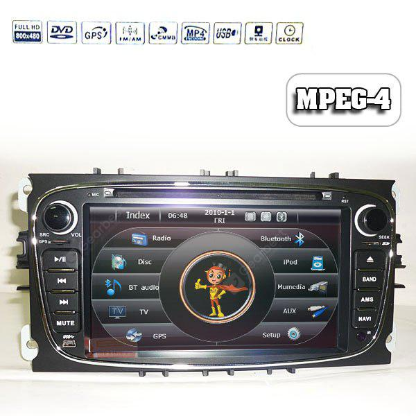 7 Inch Touch Screen GPS Can-Bus DVB-T (MPEG-4) Dual Din Car DVD Player for Ford