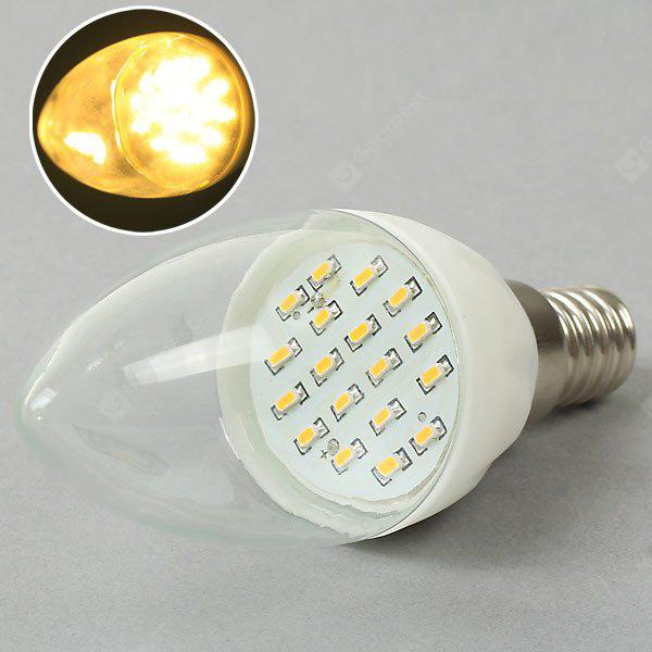 E14 2W 18 SMD 3014 LED AC85 265V Warm White Candle LED Light Bulb