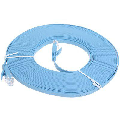 High-speed Ultra-thin PC-HUB RJ45 (8P8C) Ethernet CAT6a Flat LAN Cable 10M -Blue