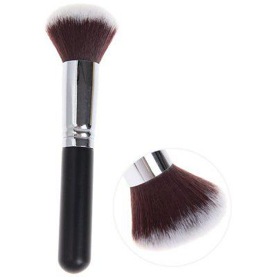 Fashionable Soft Cosmetic Copper Tube Round Head Brush Make-up for Women (Black and Silver)