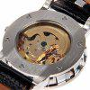 Hollow Mechanical Watch with Analog Round Dial Leather Watchband deal