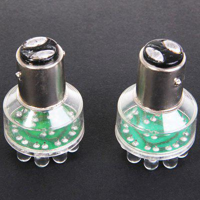2PCS 1157 12 LED Turn Signal Tail Brake Car Xenon Light Bulbs DC12V White