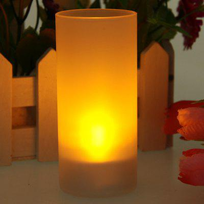 Party Gifts Light Instead of Candle Orange Light LED Table Lamp (White)