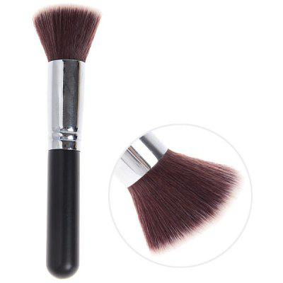 Fashionable Soft Cosmetic Copper Tube Flat Brush Make-up for Women (Black and Silver)