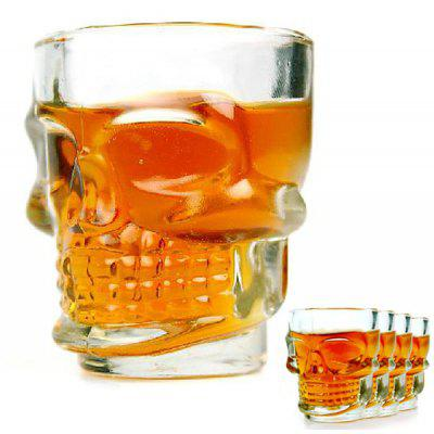 Mini Fancy 4pcs Crystal Skull Transparent Glass Cup