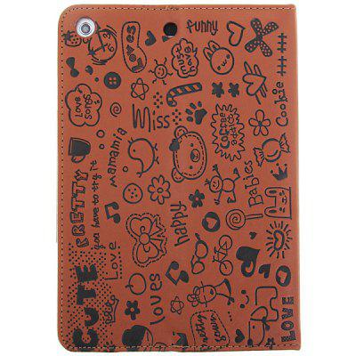 Cool Cartoon Style Folding Magnetic PU Leather Case for iPad Mini with Stand Function