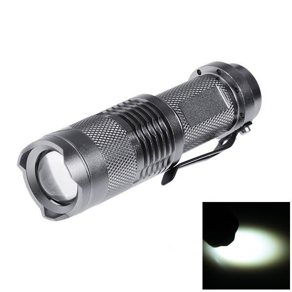 SK68 LED Torch Cree Q5 1 - Mode 120lm 14500 / AA Battery Powered Flashlight - GRAY