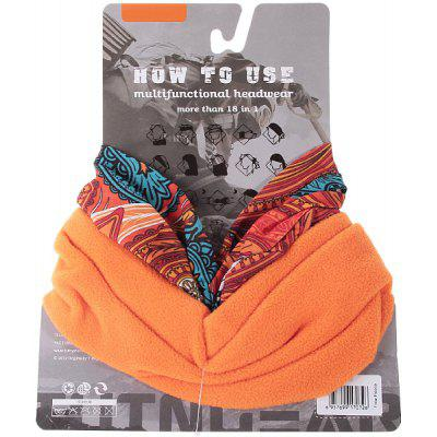 Multifunctional Headwear Scraf Bandanas Headband Bonnet for Female (Orange)