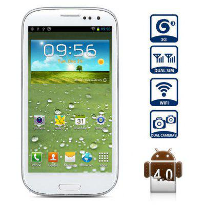 Buy WHITE 4.7 inch G9300 Android 4.0 3G Smartphone MTK6577 Dual Core 1.0GHz QHD Screen WiFi 8MP Camera for $115.98 in GearBest store