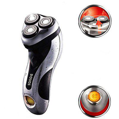 POVOS PQ8508 Intelligent High Speed Washable Electric Shaver with Three Shaving Heads