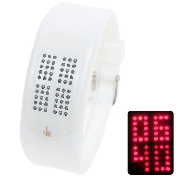 Touch Screen Unisex Waterproof Rubber Wrist Red LED Relógios