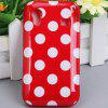 Cool Style Dots Glossy TPU Shell Case for Samsung Galaxy Ace S5830 - RED