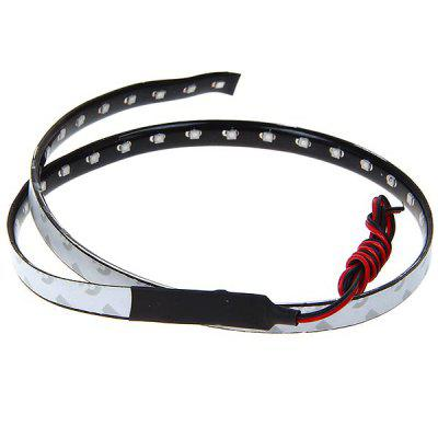 1210 60cm 44 LED Flexible Car Strip Lights Bar Line DC12V - Red Light