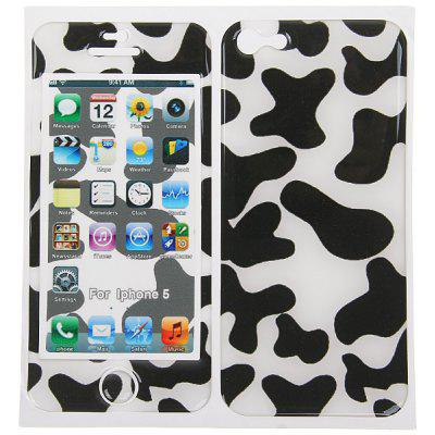 Cool 3D Spots Style Back and Front Foam Patch for iPhone 5