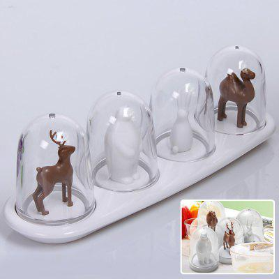 4PCS Creative Seasoning Shaker of Animal Parade Home Accessory