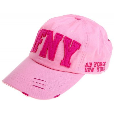 Practical Unisex Canvas Hat with AFNY Characters for Outdoor Sports Lover (Pink)