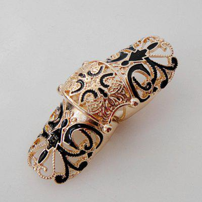 Retro Style Long Design Metal Knuckle Ring