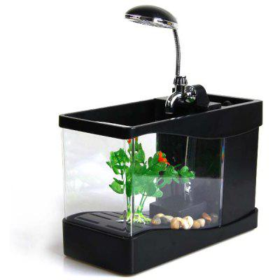office desk aquarium. Plain Aquarium Lileng918 Stylish 3 In 1 Mini Crystal USB Fish Tank Aquarium Office Desk  Lamp And E