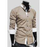 Buy KHAKI, Apparel, Men's Clothing, Men's Shirts for $23.71 in GearBest store