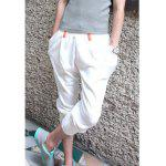 Casual Style Color Block Sports Shorts For Men - WHITE