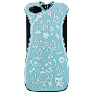 Classic Electroplating Chinese Dress Cheongsam Shape Protective Plastic Cover Case for iPhone 5 - Blue