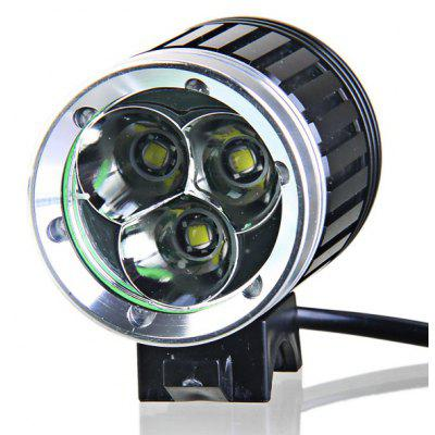 3 x Cree XM - L T6 4 - Mode 2600lm 18650 LED Headlamp with Battery and Charger